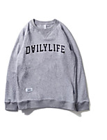 Men's Daily Sweatshirt Quotes & Sayings Round Neck Micro-elastic Cotton Long Sleeve Spring Fall