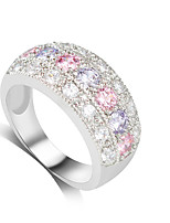 Women's Ring AAA Cubic Zirconia Fashion Adorable Elegant Gemstone  Ring Jewelry For Wedding Anniversary Party/Evening