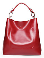 Women Tote Cowhide All Seasons Event/Party Casual Office & Career Rectangle Magnetic Brown Blushing Pink Red Black Blue