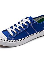Для мужчин Кеды Удобная обувь Полиуретан Весна Осень Удобная обувь Белый Черный Синий На плоской подошве
