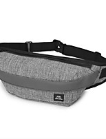 Men Sling Shoulder Bags Polyester All Seasons Casual Outdoor Round Zipper Gray
