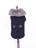 Dog Coat Dog Clothes Casual/Daily Solid Gray Black