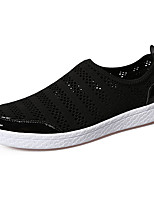 Men's Athletic Shoes Comfort Spring Fall PU Outdoor Flat Heel White Black Gray Ruby Flat