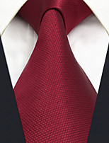 CXL33 Fashion Business Dress Extra Long Classic Men Neckties Red Solid 100% Silk Unique Handmade Wedding