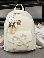 Women Bags All Seasons PU Backpack with for Casual White Black