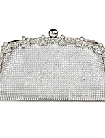 Women PC Metal Formal Casual Event/Party Wedding Outdoor Office & Career Professioanl Use Evening Bag Silver Gold