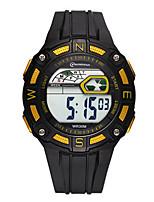 Homens Relógio Esportivo Relogio digital Digital Impermeável Noctilucente Borracha Banda Preta