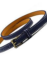 Ladies Fashion Wild Needle Buckle Fine Leather Belt