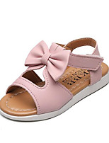 Girls' Flats Comfort PU Spring Fall Casual Walking Comfort Magic Tape Low Heel Blushing Pink Purple White Flat