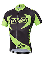 CYCOBYCO Bike/Cycling Shirt / Sweatshirt / Jersey Men's Short SleeveBreathable / Moisture Permeability / Quick Dry / Reflective Cycling Jersey