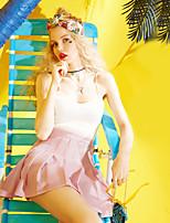 ELF SACKWomen's Daily Casual Sexy Tank TopSolid Strap Sleeveless Polyester Viscose rayon