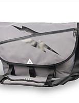 Men Shoulder Bag Polyester All Seasons Casual Outdoor Round Zipper Gray