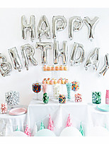 16 Inch Glod/Silver - 13pcs HAPPY BIRTHDAY Foil Letters Balloons Kids Birthday Party Decorations Beter Gifts® Party Supplies