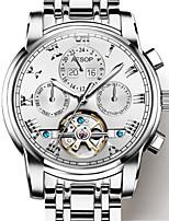Per uomo orologio meccanico Carica automatica Acciaio inossidabile Banda Argento