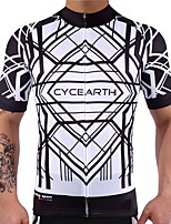 CYCEARTH Cycling Jersey Men's Short Sleeve Bike Jersey Bicycle MTB Sport Shirt Wear Clothing Clothes Breathable Lightweight Quick Dry