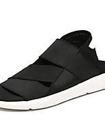 Men's Sandals Comfort Rubber Summer Outdoor Comfort Flat Heel Black/White Black Under 1in