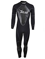Men's 3mm Full Wetsuit Sports Chinlon Diving Suit Long Sleeve Diving Suits-Diving & Snorkeling All Seasons Solid
