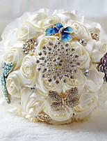 Свадебные цветы Букеты Свадебное белье Шифон Бусины 24 см