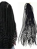 American Fashion Women HairStyle 18 inch soft dread Curlkalon Curls Ombre Kanekalon Curly Braiding faux locs Curlkalon Crochet 5packs make head