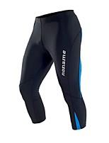 Per uomo Pantaloni da corsa Fitness, Running & Yoga 3/4 Collant/Corsari per Corsa Esercizi di fitness Aderente Nero