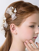 Girl's Hair Clip 1pcs Rhinestone Beading Mesh Bow Hair Accessory