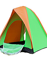 2 persons Tent Double Fold Tent One Room Camping Tent 1000-1500 mm Terylene Silver Tape Quik Dry Ventilation Foldable-Camping / Hiking-