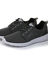 Women's Athletic Shoes Comfort PU Spring Fall Athletic Outdoor Walking Comfort Flat Heel Blue Navy Blue Gray Black Flat