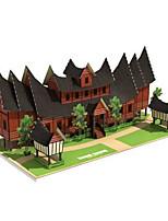 Puzzles Kit de Bricolage Puzzles 3D Blocs de Construction Jouets DIY  Bâtiment Célèbre Maison