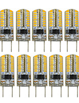 3W Luces LED de Doble Pin T 64 SMD 3014 200-300 lm Blanco Cálido Decorativa V 10 piezas