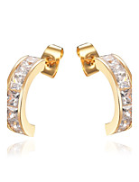 Women's Stud Earrings Cubic Zirconia Fashion Classic Zircon Alloy Jewelry For Wedding Party Engagement Gift Ceremony Evening Party