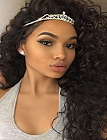 8-26 Inch For Black Women Glueless Lace Front Wigs Brazilian Human Hair Wigs Natural Black Curly Cheap On Sale