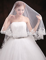 Wedding Veil One-tier Blusher Veils Elbow Veils Lace Applique Edge Tulle