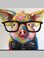 Large Size Hand Painted Piggy Animal Oil Painting On Canvas Wall Art Picture For Home Decoration No Frame