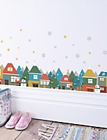 Noël Mode Paysage Stickers muraux Autocollants avion Autocollants muraux décoratifs Autocollants de Mesure Matériel Décoration d'intérieur