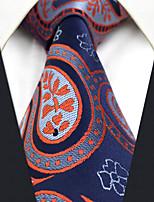 CXL29 New Mens Necktie Unique Extra Long 63 Blue Red Paisley 100% Silk Business Dress