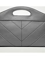 Women Shoulder Bag PU All Seasons Casual Outdoor Round Zipper Gray Red Black