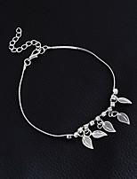 Women's Girls' Anklet/Bracelet Alloy Fashion Vintage Bohemian Punk Handmade Gothic Leaf Jewelry For Wedding Party Training New Baby