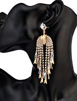 Drop Earrings Women's Euramerican Fashion Bohemian Luxury Rhinestone Tassel Earrings Party Daily Movie Jewelry