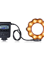 Andoer SL-102C GN15 Macro LED Ring Round Flash Fill-in Light Lamp Brightness Adjustable LCD Display for Canon Nikon