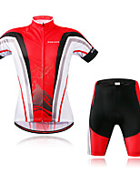 WOSAWE Cycling Jersey with Shorts Unisex Short Sleeves Bike Padded Shorts/Chamois Clothing Suits Moisture Wicking Fast Dry Reflective