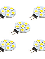 1W LED à Double Broches 6 SMD 5050 68 lm Blanc Chaud Blanc DC 12 V 5 pièces