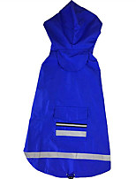 Dog Rain Coat Dog Clothes Casual/Daily Solid Red Blue
