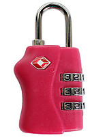 BL1015 Zinc Alloy Padlock 3 Digit Password TSA Lock For Trolley Case Sling Box Anti-Theft Lock Carrier Lock Lock Lorry Padlock Dail Lock Password Loc