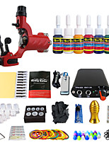 Complete Beginner tattoo kit 2 machines 7 ink sets power supply needles