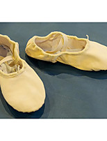Mujer Ballet Tejido Planos Entrenamiento Blanco Rosa Color Camello