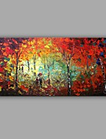 Hand-Painted Knife Scenery Oil Painting Wall Art With Stretcher Frame Ready To Hang