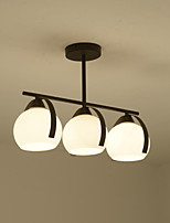 60W Pendant Light  Traditional/Classic Painting Feature for Mini Style Wood/BambooLiving Room / Bedroom / Dining Room / Study