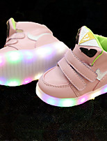 Kids Boys Girl's Sneakers Light Up Shoes Leather Leatherette Spring Summer Fall Casual Outdoor Walking Light Up Shoes Magic Tape LED Low Heel