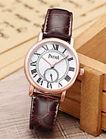 Women's Fashion Watch Unique Creative Watch Quartz Water Resistant / Water Proof Leather Band Black White Red Brown Pink Purple