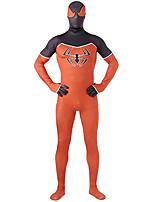 Zentai Suits Super Heroes Spider Zentai Cosplay Costumes Print Patchwork Leotard/Onesie Zentai Spandex Orange Lycra Unisex Halloween Christmas